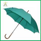 Marchio inciso promozionale sulla pioggia poco costosa dell'ombrello del bastone da passeggio della maniglia di legno dell'ombrello