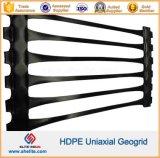 HDPE HDPE van Ux Geogrids Éénassige Geogrid 50kn aan 260kn