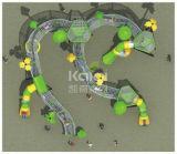 Kaiqi caçoa o campo de jogos ao ar livre combinado com a canaleta líquida inoxidável e a câmara de ar desliza (KQ60125A)