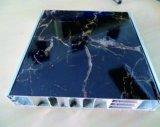 Panneau en aluminium de Honeybomb de Pro-Environnement de légèreté d'Imiter-Marbre d'imitation ignifuge de fibre de bois
