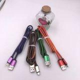 iPhone 인조 인간 이동 전화를 위한 가죽 자료 선 충전기 USB 데이터 케이블 2.4A