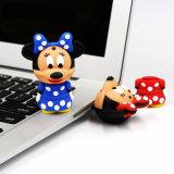 Animal modificado para requisitos particulares mecanismo impulsor Pendrive del PVC de señora Mouse Cartoon USB Flash