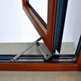 Het Houten Venster van het Aluminium van het Glas van de Dubbele Verglazing van de Stijl van de gordijnstof