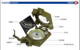 Bussola prismatica di Lensatic dell'esercito militare portatile con la cinghia della cinghia del collo