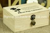 Acabado de alto brillo personalizada Shell MDF caja de madera para cosmética