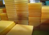 kust 75 - 95 een Pu- Blad, het Blad van het Polyurethaan met het Gele Transparante 100% Maagdelijke Materiaal dat van de Polyether wordt gemaakt
