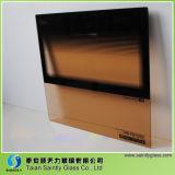 Forma plana de 5 mm resistente al calor de vidrio templado para la puerta del horno