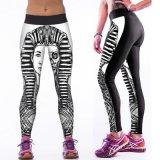 Prezzo basso corrente di buona qualità dei pantaloni di sport di nuova di modo delle donne 3D della stampa di Legging alta della vita yoga multicolore di ginnastica