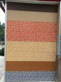 Выбитая панель стены покрытия металла изолированная