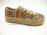 Zapatos Vulcanized de la manera de las mujeres con la sola del yute (ET-LD160170W)