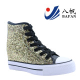 Glitter PU en coin supérieur Sneakers chaussures en toile BF170109