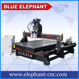 Blaue Elefant Ele Shandong multi Kopf CNC-Haupttür-hölzerne schnitzende Entwurfs-Holzbearbeitung-Fräser-Maschinerie 1530 für Zylinder