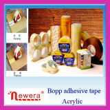 Cinta adhesiva material ancha normal del embalaje de la goma de BOPP para el lacre del cartón