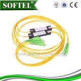 Divisore d'acciaio del PLC del tubo Sc/Upc di FTTH 1*4