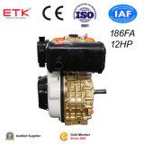 único motor de refrigeração ar do motor Diesel do cilindro 12HP
