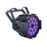 1 LEDの同価64の同価の照明に付き18*12W Rgbaw+UV 6