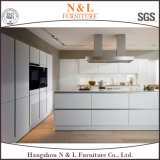 N&L moderno MDF de alto brilho laca vermelha armário de cozinha
