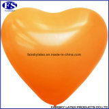 Orange Logo gedruckt kundenspezifische Herz-Form Folienballon