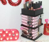 De acryl Spinnende Toren van de Lippenstift, de Roterende AcrylHouder van de Organisator van de Lippenstift