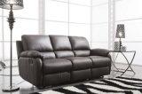 Sofà del salone con il sofà moderno del cuoio genuino impostato (654)