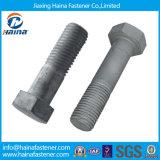 Aço inoxidável Ss304 Ss 316 Parafusos e porcas hexagonados Parafuso de rosca com zinco Hot DIP Galvanizado 4.8 8.8 Porca hexa e parafuso (DIN933 E DIN934)