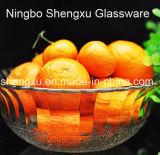 Ciotola di insalata di vetro del pavone di 100% del diamante trasparente privo di piombo di disegno Sx-008