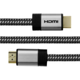 Cable de nylon 4k 2.0 de la trenza HDMI con la cuerda trenzada 28AWG