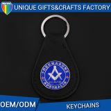 記念品のキーホルダーのキーのホールダーのための型デザイン革キーホルダー