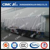 Cimc venda quente Van de Huajun/da caixa reboque Semi com Curtaiin lateral