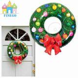 Aufblasbares Weihnachtshelles Haus mit Wreath für Dekoration