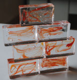 Baksteen van het Glas van de kleur de Stevige/Blok van het Glas van de Kleur het Stevige (JINBO)