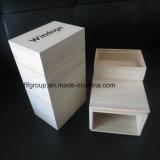 Кофеий естественного цвета Packagings подарка деревянный упаковывает коробки чая твердой древесины