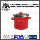 Factory LFGB Certified Multifunctional Non Stick Enamel Steamer Pot
