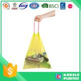Sachet en plastique biodégradable de cordon de qualité pour des ordures