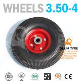 La carriola spinge la rotella di gomma 3.50-4 del carrello della mano delle rotelle del camion di mano