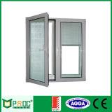 Janela de abertura do perfil de alumínio Casement janelas com vidro temperado
