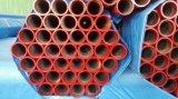 Tubo d'acciaio senza giunte di ERW con colore rosso Grooved della pittura