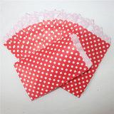 Sacs de papier rouges de festin de POINT respectueux de l'environnement pour l'usager