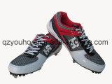 Различных цветов бейсбола обувь раунда Toe Lace Up бейсбольной металлическими шипами