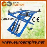 Lxd-6000 dubbele Hydraulische Cilinders, de Opheffende Lift van de Auto van het Voertuig van de Schaar van de Capaciteit 6000lbs voor Verkoop