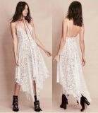Повелительницы выскальзования V-Necked выравнивая платье шнурка