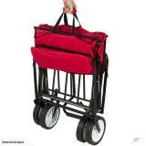 Chariot de jardin pliable avec canopée