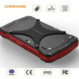 OS industrial rugoso Handheld del androide 6.0 del dispositivo de PDA con la frecuencia ultraelevada RFID/Hf RFID 4G del explorador del código de barras 1d/2D