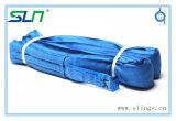 Tipo infinito estilingue redondo do poliéster azul (