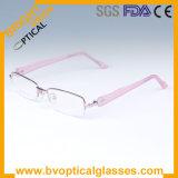 Rose Fashion verres optiques de la moitié des trames de RIM