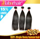 Haut de la qualité naturelle de l'homme droites soyeux malaisien Virgin hair extension Lbh 132