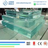 5+3.8+5 vidro laminado do furacão de bronze cinzento 13.8mm desobstruído do verde azul