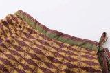 Spring Fashion Joker Floral Pattern Lacing Warp Vent Skirt