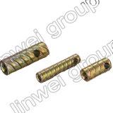 Socket de elevación de acero de la cuerda de rosca Herringbone en los accesorios del concreto de prefabricación (M12X100)