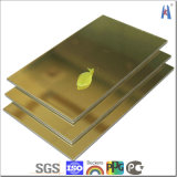 インポートされた材料が付いている金の銀製ミラーによって陽極酸化されるアルミニウム合成のパネル